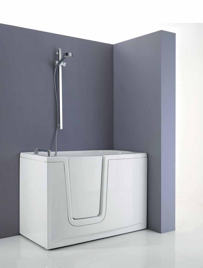 Vasca con porta e doccia accessibile senza barriere jacuzzi - Bagno barriere architettoniche ...