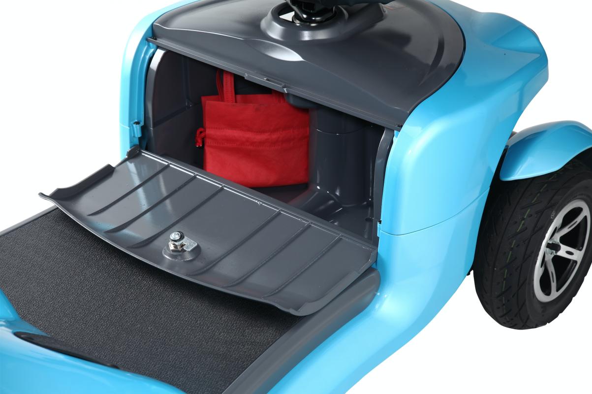 mobility scooter city con vano porta oggetti comodo e utile