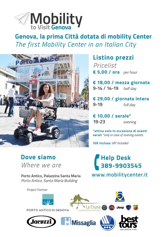 mobility scooter per disabili a noleggio per visitare genova porto antico