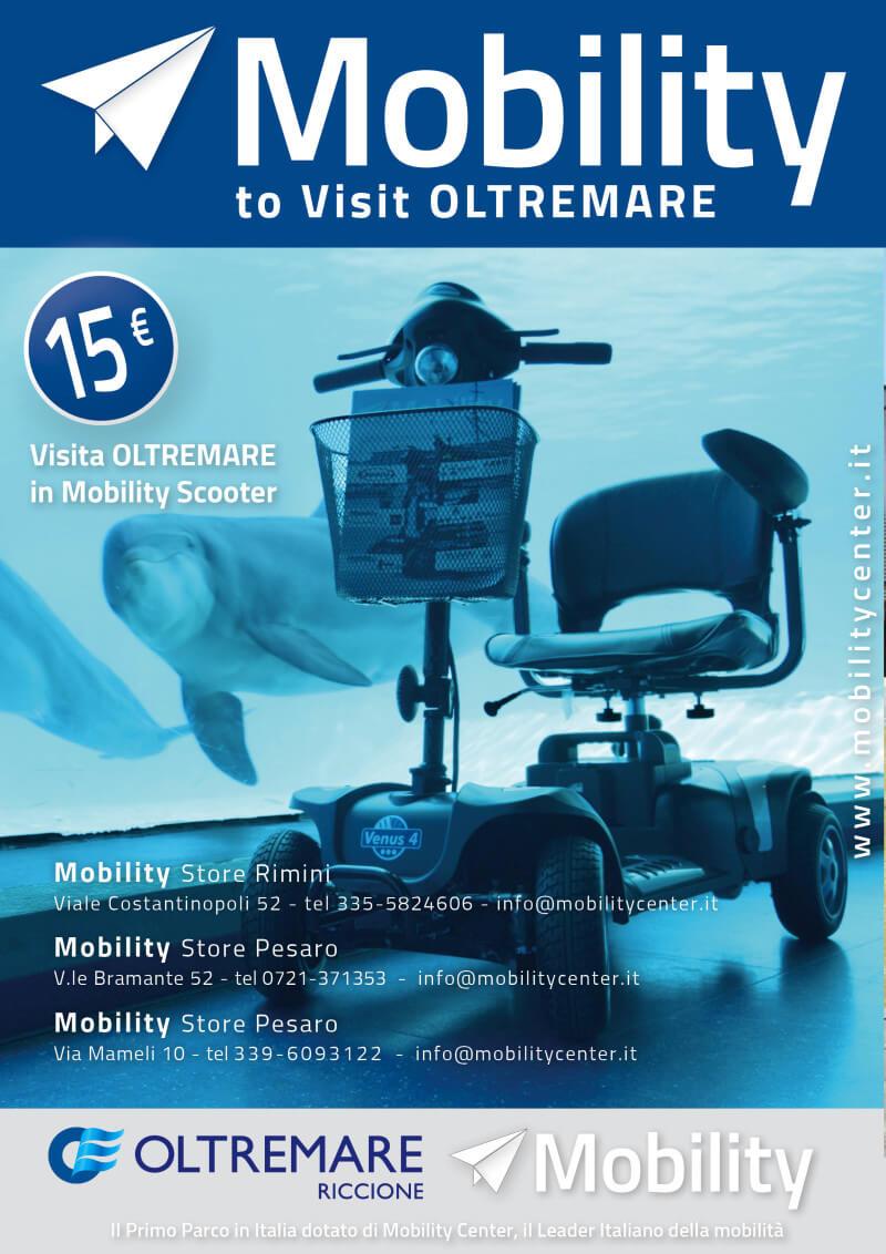 mobility scooter per disabili a noleggio per visitare oltremare riccione