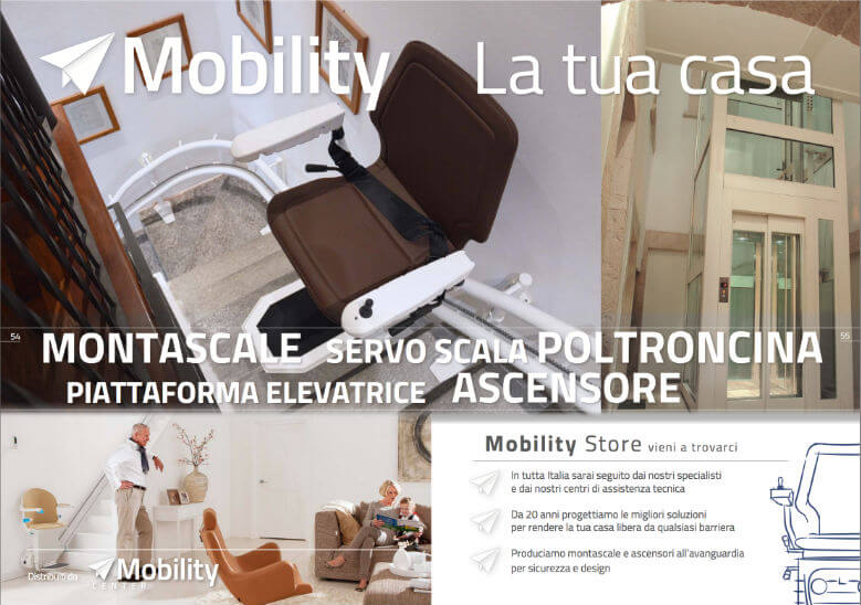 scarica il leaflet montascale a poltroncina infinity per scale curve