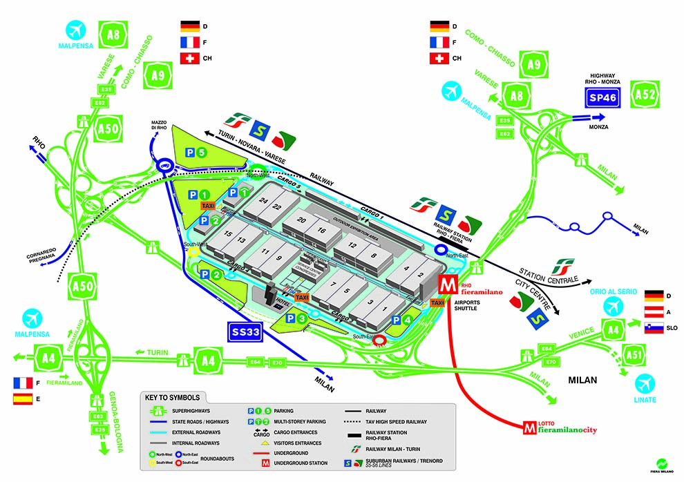 mappa fiera milano mobility center