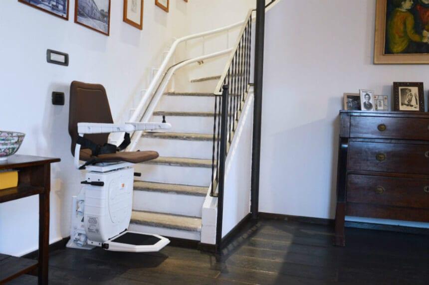 montascale di mobility per scale curve o a chiocciola