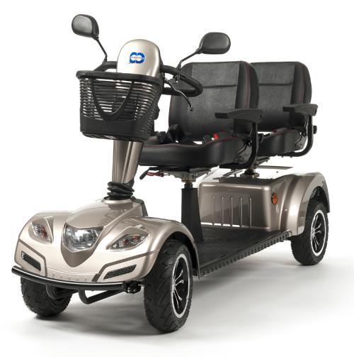 mobility scooter tandem per due posti facile da usare, comodo e sicuro